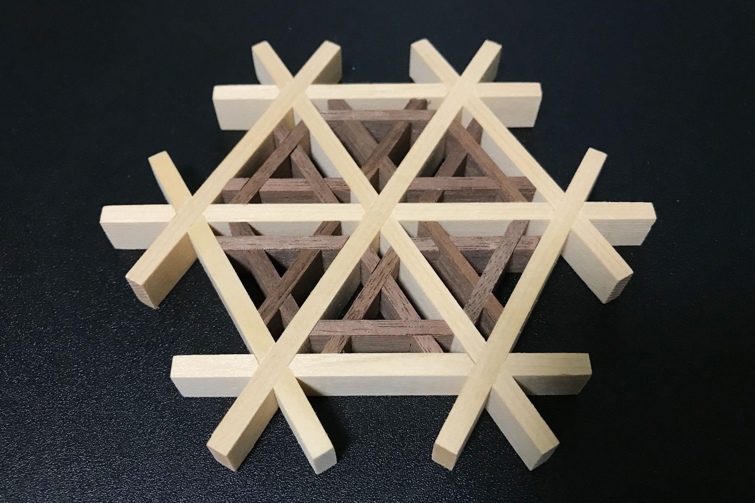 組み木細工のコースター(木工房 玄翁屋)